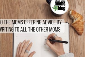 moms offering advice