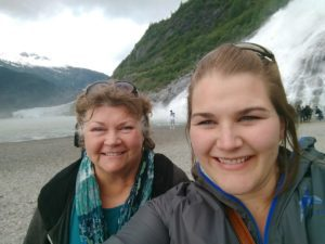 My mom and me.