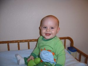 My sweet son.