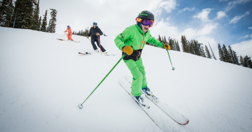 Skiing at Crested Butte.