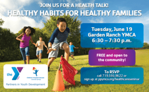 join the ymca and childrens hospital colorado colorado springs for a free health talk where we will discuss tips on healthy nutritional eating to help - Garden Ranch Ymca