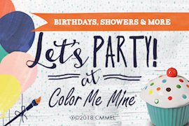 Your Creative Kiddo Will Love Having A Party At Color Me Mine Whether Its Painting Pottery Hand Building With Clay Or Canvas We Have Great
