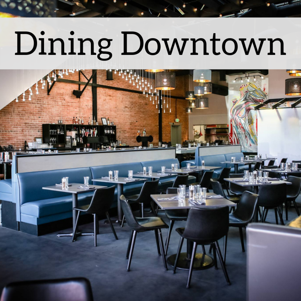 Dining Downtown Button