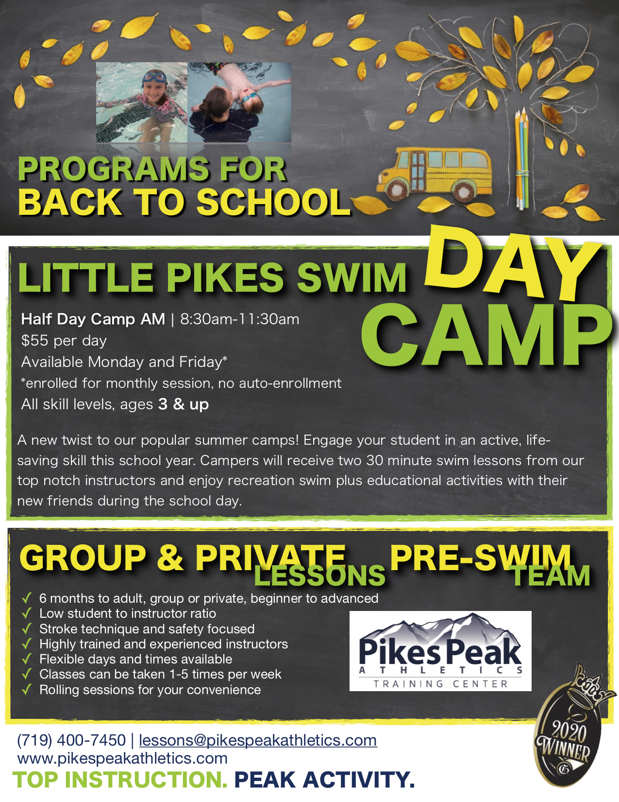 Pikes Peak Athletics Fall