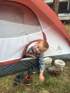 camping boy