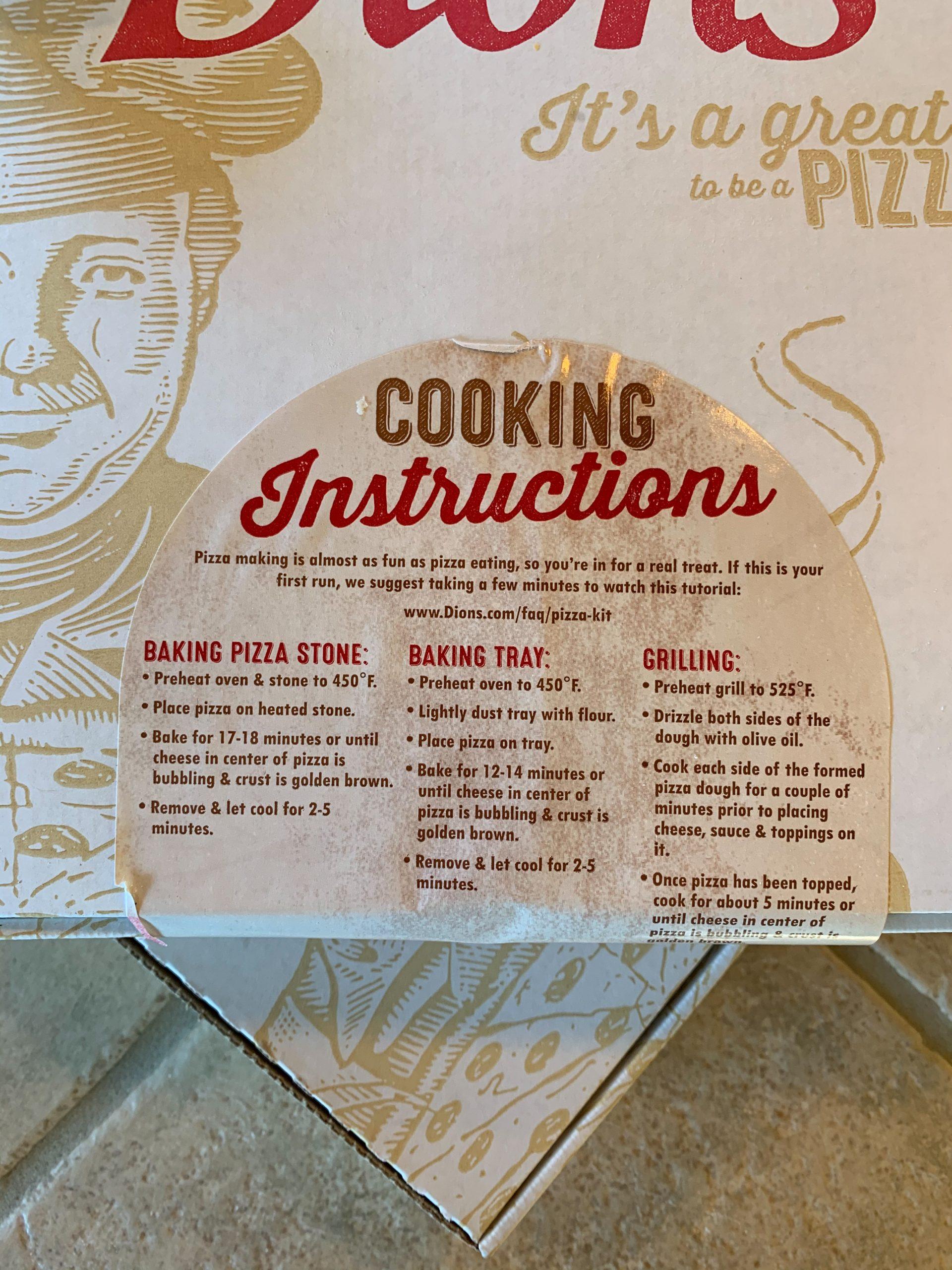 dion's pizza kits